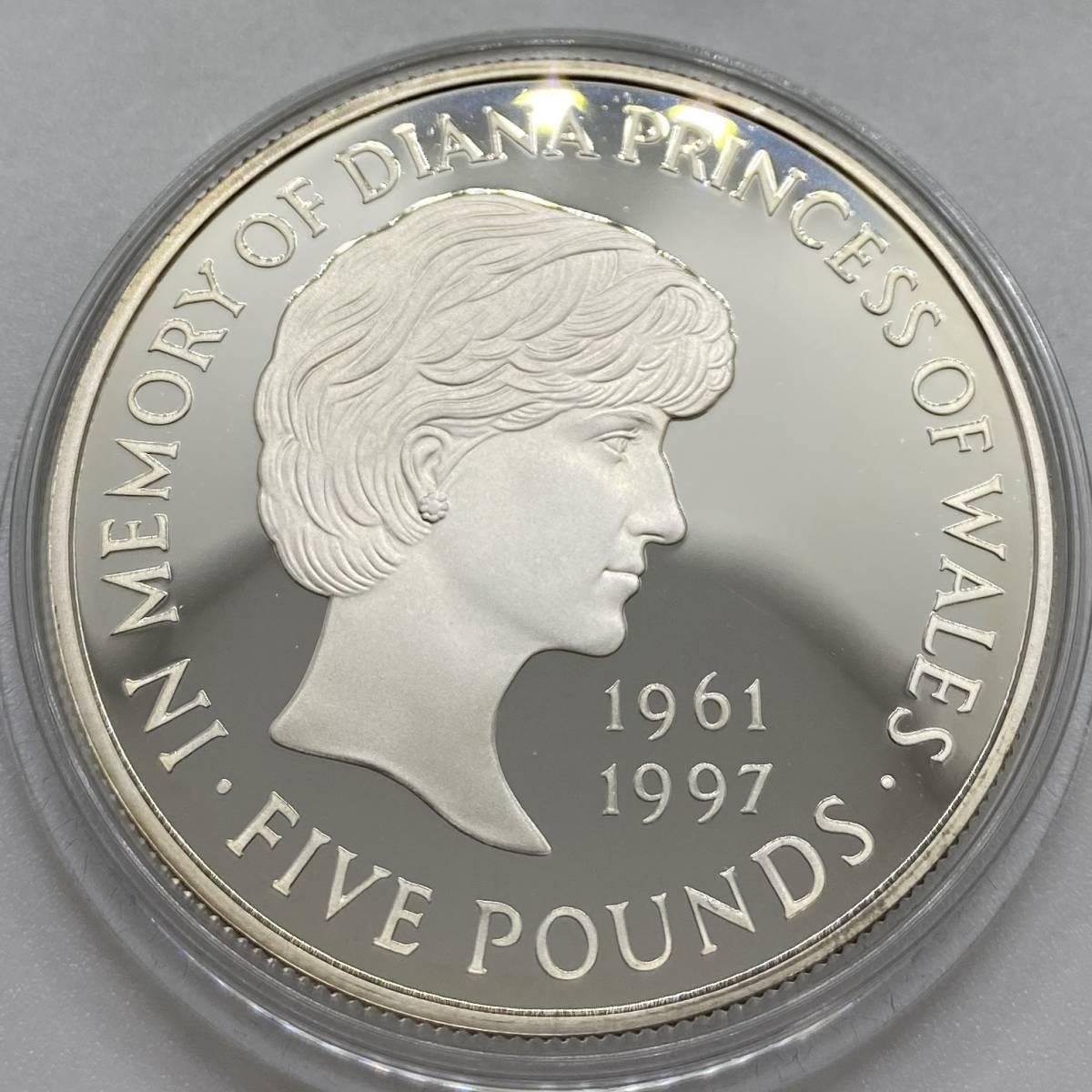 イギリス 1999年 5ポンド銀貨 ダイアナ プルーフ オリジナルケース COA