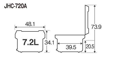 ★新品 保温ジャー タイガー JHC-720A 業務用 電子ジャー 炊きたて 4升 7.2L 店舗●送料込_画像2