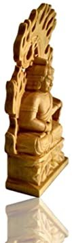 7cm(仏壇を含まない) 仏像 【ミニチュア仏像:不動明王 柘植木彫り】 置物 彫刻仏像 守り本尊 木彫仏像 ツゲ 手彫り仏像 _画像3