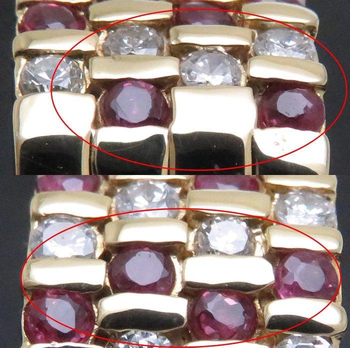 リング K18YG ルビー0.51ct ダイヤモンド0.89ct 12.5号 18金イエローゴールド 指輪 レディース ジュエリー /64433 【中古】_画像8