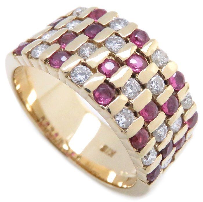 リング K18YG ルビー0.51ct ダイヤモンド0.89ct 12.5号 18金イエローゴールド 指輪 レディース ジュエリー /64433 【中古】_画像10