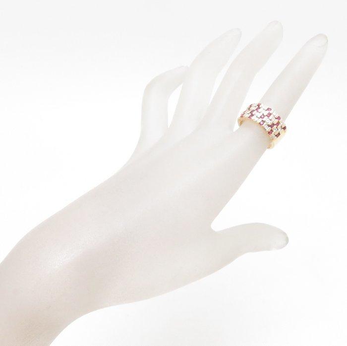 リング K18YG ルビー0.51ct ダイヤモンド0.89ct 12.5号 18金イエローゴールド 指輪 レディース ジュエリー /64433 【中古】_画像2