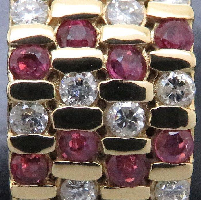 リング K18YG ルビー0.51ct ダイヤモンド0.89ct 12.5号 18金イエローゴールド 指輪 レディース ジュエリー /64433 【中古】_画像6
