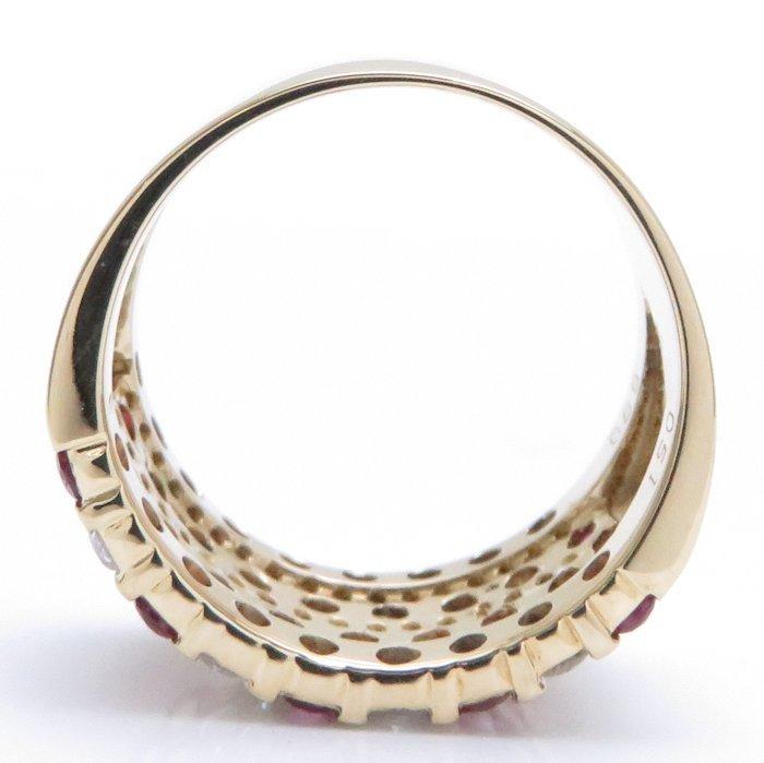 リング K18YG ルビー0.51ct ダイヤモンド0.89ct 12.5号 18金イエローゴールド 指輪 レディース ジュエリー /64433 【中古】_画像4