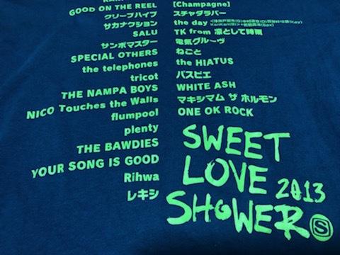 ★即決★SWEET LOVE SHOWER 2013 Tシャツ★M★ブルー★スペースシャワーTV★夏FES★クリープハイプ★レキシ★電気★ねごと★送料210円★_画像9
