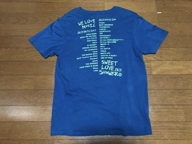 ★即決★SWEET LOVE SHOWER 2013 Tシャツ★M★ブルー★スペースシャワーTV★夏FES★クリープハイプ★レキシ★電気★ねごと★送料210円★_画像6