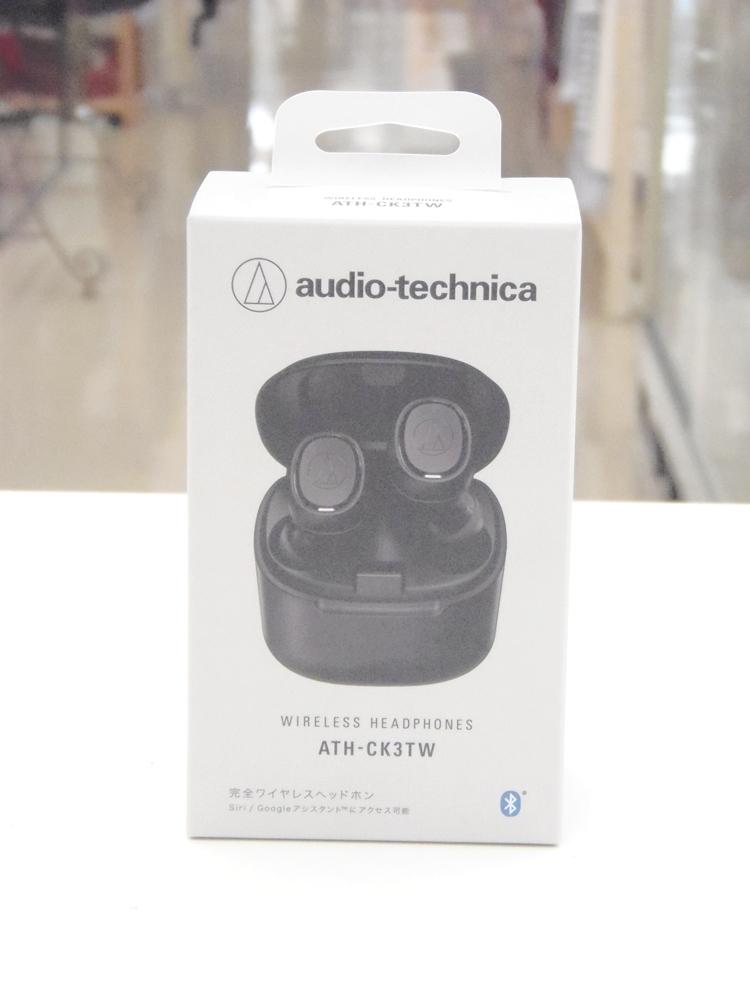 ○ オーディオテクニカ 完全ワイヤレスヘッドホン ATH-CK3TW 未使用品_画像1