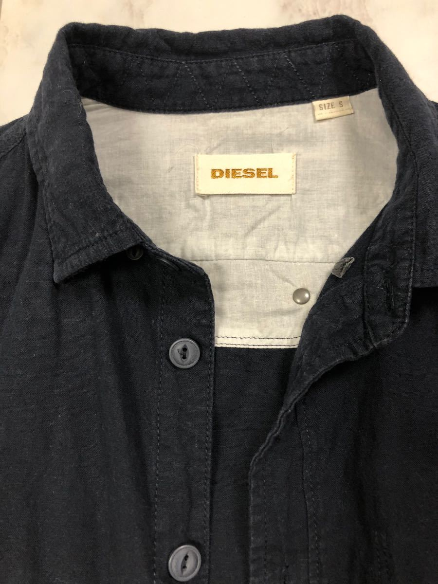 DIESEL ディーゼル 長袖ボタンダウン シャツ size S