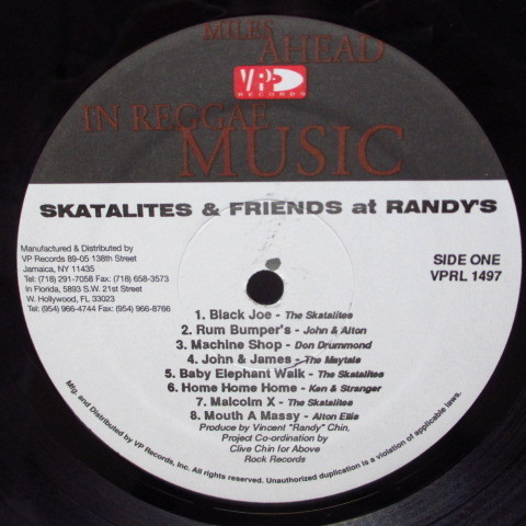 Skatalites & Friends At Randy's☆貴重98年USオリジ・コンピLP☆_画像3