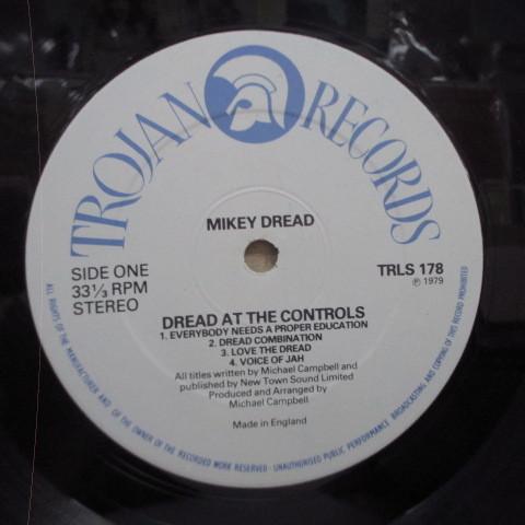 MIKEY DREAD☆Dread At The Controls☆貴重79年UKオリジLP☆_画像3