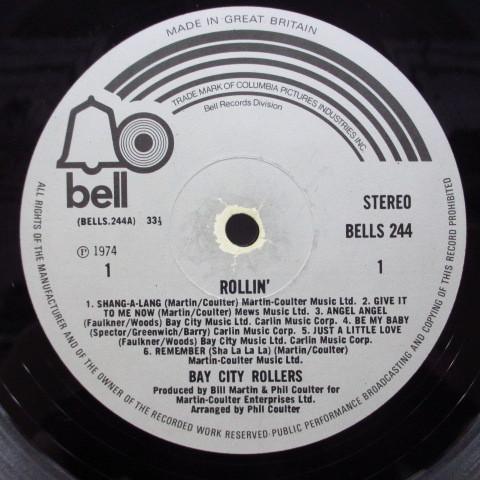 BAY CITY ROLLERS☆Rollin☆貴重74年UKオリジLP☆マット☆_画像3
