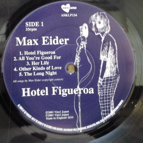 MAX EIDER☆Hotel Figueroa☆貴重01年UKオリジLP☆_画像3