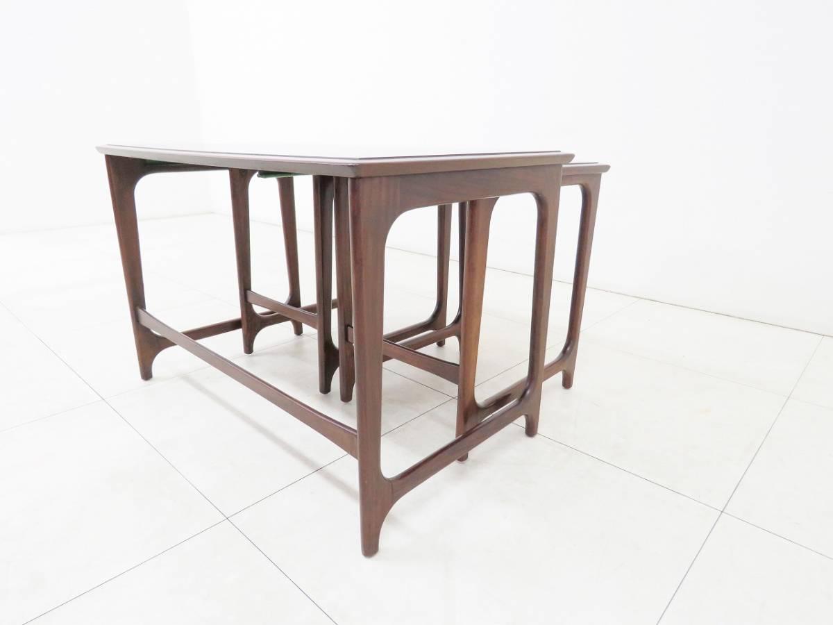 ■オールドマルニ■maruni■ネストテーブル サイドテーブル■ローズウッド■ヴィンテージ■_画像5