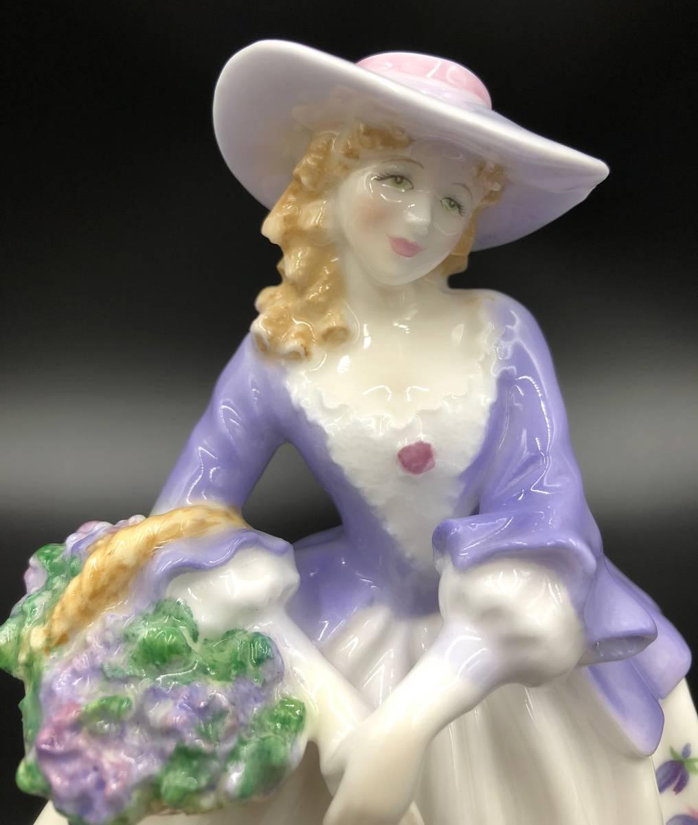 美品 証明書あり Royal Worcester ロイヤルウースター Sweet Violet スイートバイオレット フィギュリン 9500体限定_画像6