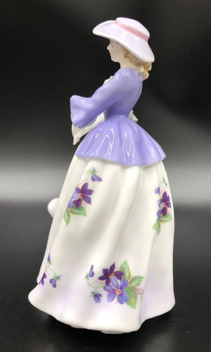美品 証明書あり Royal Worcester ロイヤルウースター Sweet Violet スイートバイオレット フィギュリン 9500体限定_画像2