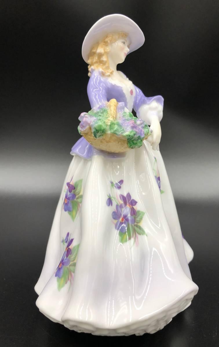 美品 証明書あり Royal Worcester ロイヤルウースター Sweet Violet スイートバイオレット フィギュリン 9500体限定_画像4