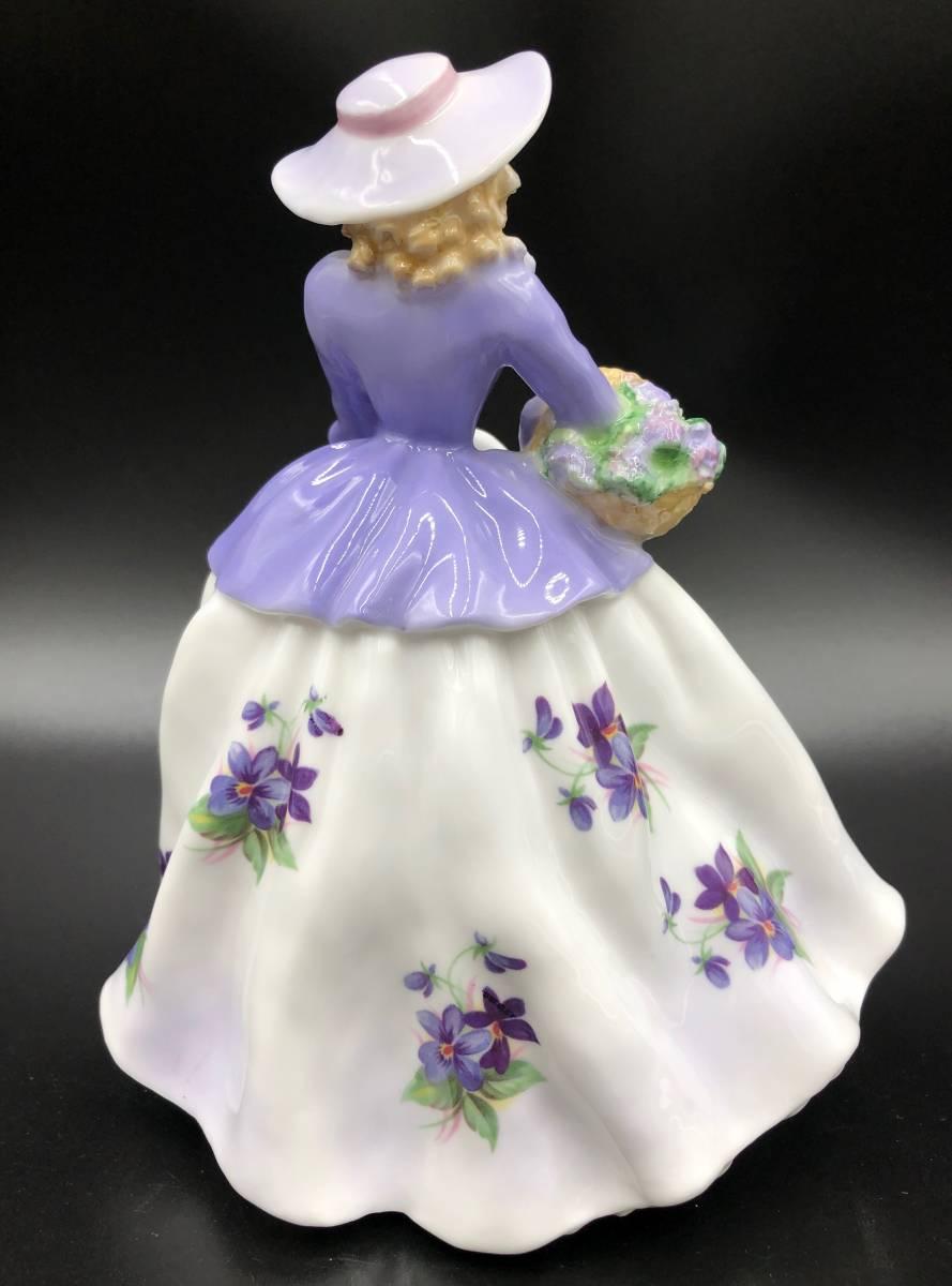 美品 証明書あり Royal Worcester ロイヤルウースター Sweet Violet スイートバイオレット フィギュリン 9500体限定_画像3