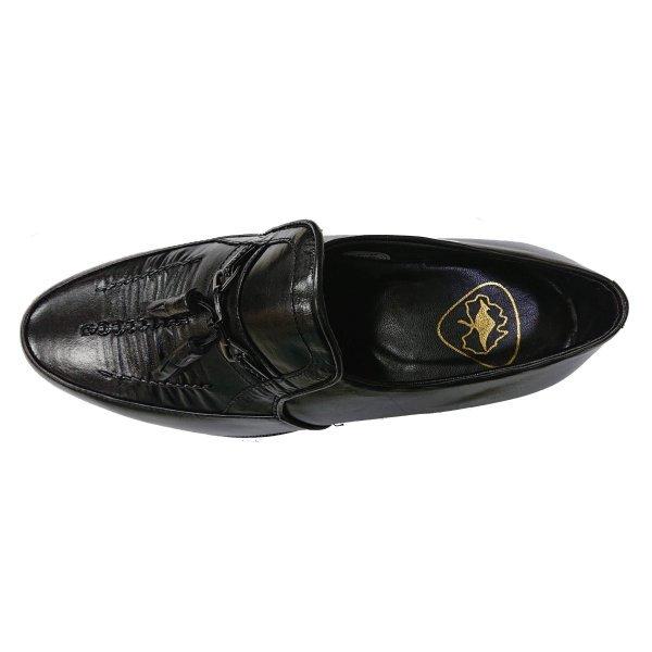 【アウトレット】【安い】【カンガルー革】【日本製】メンズ ビジネスシューズ タッセル 紳士靴 革靴 1140 ブラック 黒 26.5cm