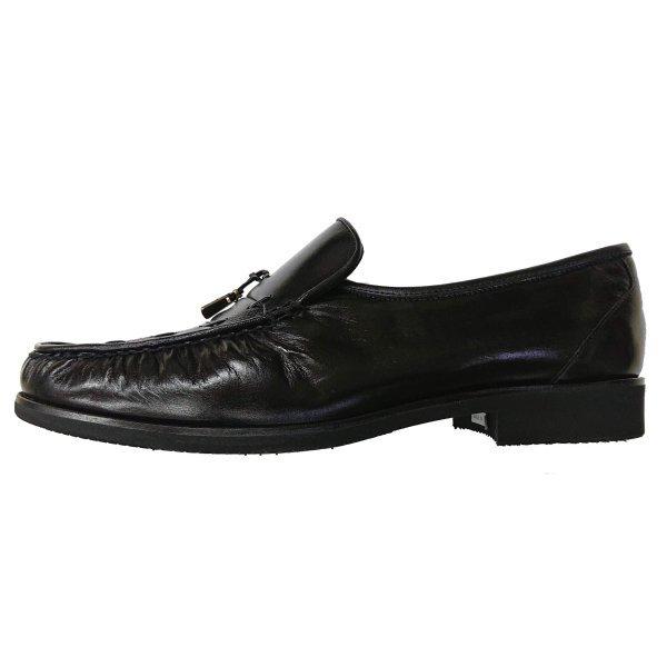 【アウトレット】【安い】【カンガルー革】【日本製】メンズ ビジネスシューズ スリッポン 紳士靴 革靴 1105 ブラック 黒 27.0cm