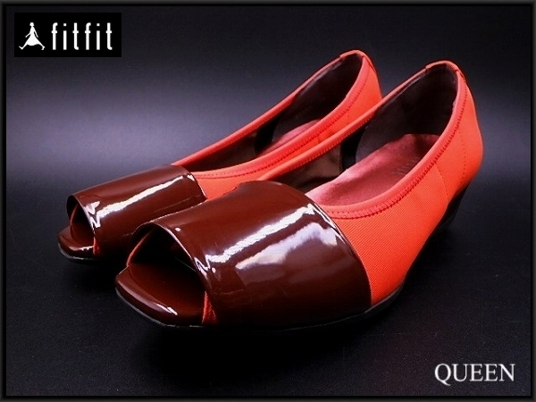 fitfit パンプスシューズ・24.5cm★フィットフィット/レディース 靴 シューズ/20*10*2-30_画像1