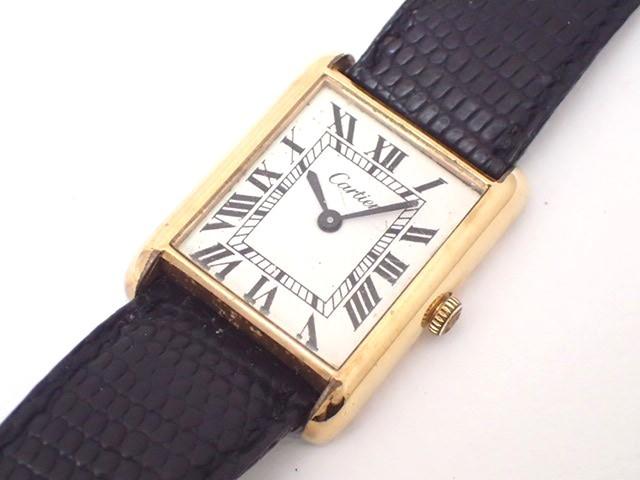 Cartierカルティエ/マストタンク/手巻き/レディース腕時計/18KGP/ジャンク/純正尾錠[T]