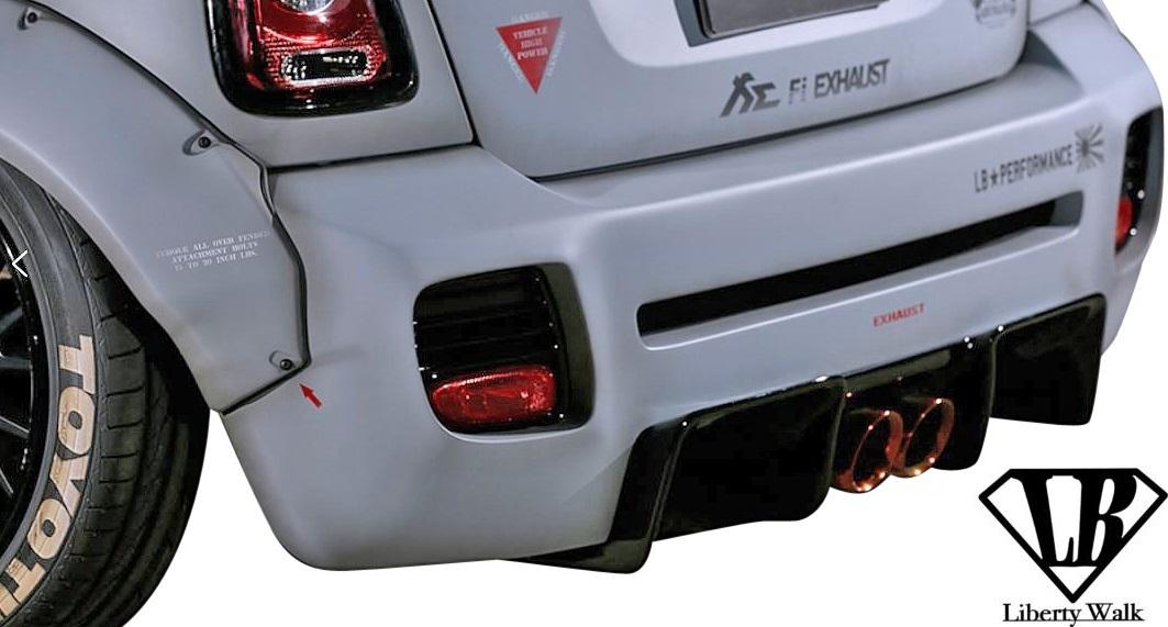 【M's】R56 R57 R58 R59 ミニ (2006y-2013y) lb★nation WORKS エアロ 5点 SET / BMW MINI FRP Liberty Walk リバティーウォーク エアロ_画像8