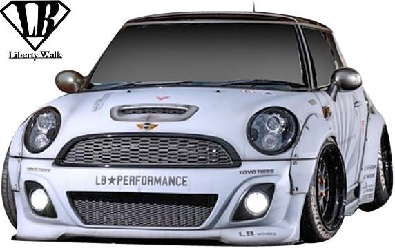 【M's】R56 R57 R58 R59 ミニ (2006y-2013y) lb★nation WORKS エアロ 5点 SET / BMW MINI FRP Liberty Walk リバティーウォーク エアロ_画像2