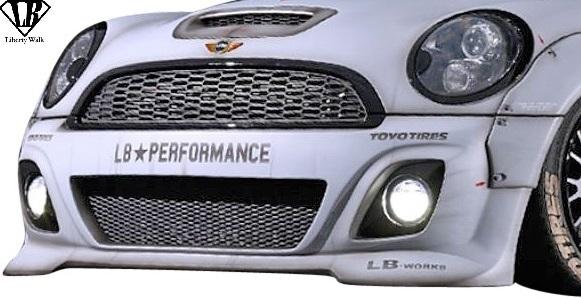【M's】BMW R56 R57 R58 R59 ミニ (2006y-2013y) Liberty Walk LB フロントバンパー // MINI FRP リバティーウォーク エアロ パーツ_画像1