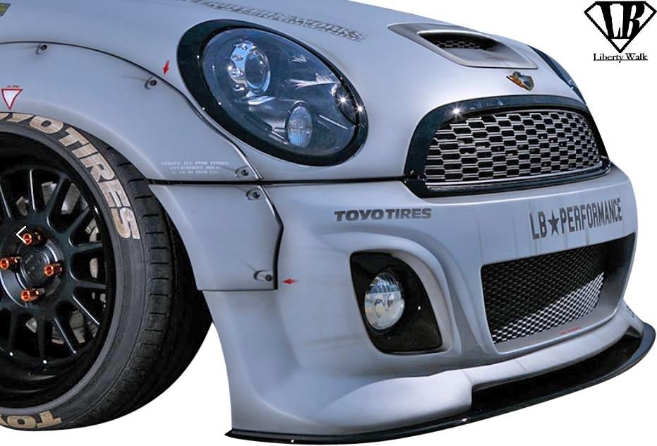 【M's】BMW R56 R57 R58 R59 ミニ (2006y-2013y) Liberty Walk LB カーボン フロントディフューザー / MINI リバティーウォーク エアロ_画像1
