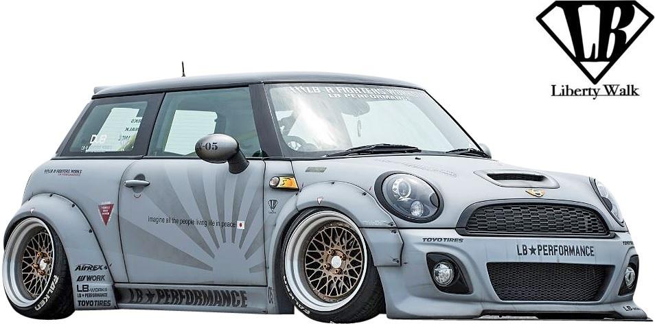 【M's】R56 ミニ ワン/クーパー/クーパーS (2006y-2013y) Liberty Walk LB トランクウイング / BMW MINI FRP リバティーウォーク エアロ_画像5