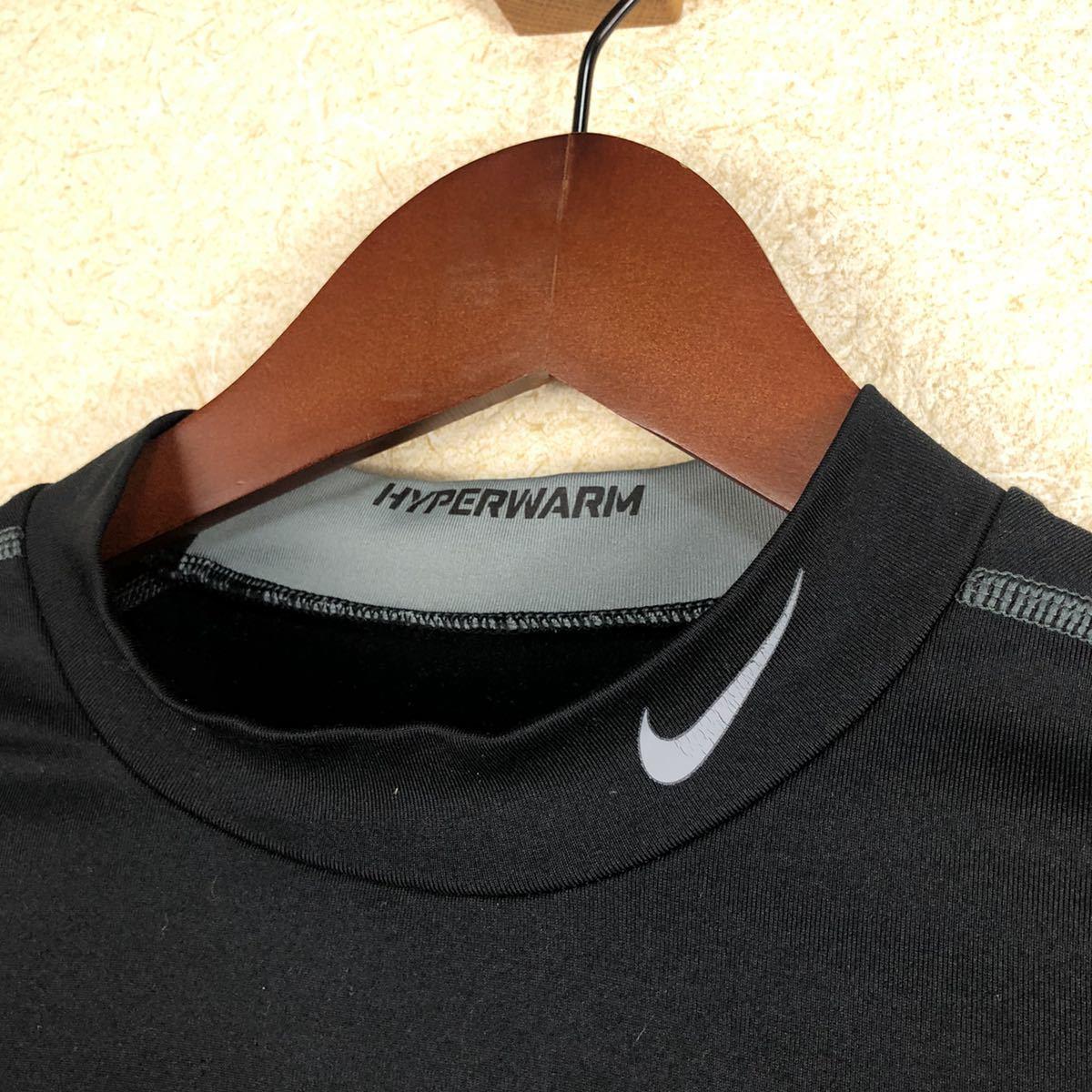 [送料無料 即決 良好]ナイキ Nike PRO combat DRI-FIT compression 長袖Tシャツ コンプレッション ウェアー L インナーブラック 秋冬用