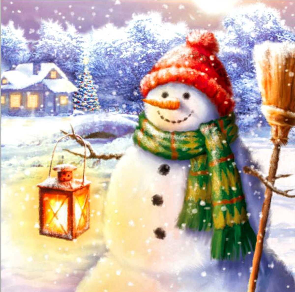 ダイヤモンドアート クリスマス スノーマン 初心者 ダイアモンドペインティング ビーズ刺繍キット クロスステッチ