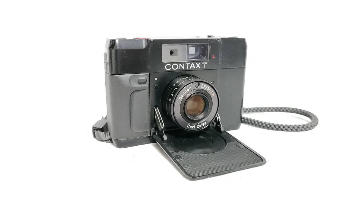 送料無料♪動作良好【CONTAXフィルムカメラ】コンタックス T Carl Zeiss Sonnar 38mm F2.8_画像2