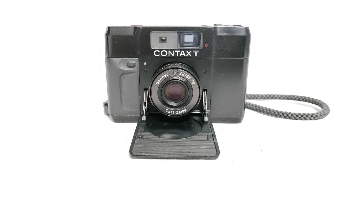送料無料♪動作良好【CONTAXフィルムカメラ】コンタックス T Carl Zeiss Sonnar 38mm F2.8_画像3