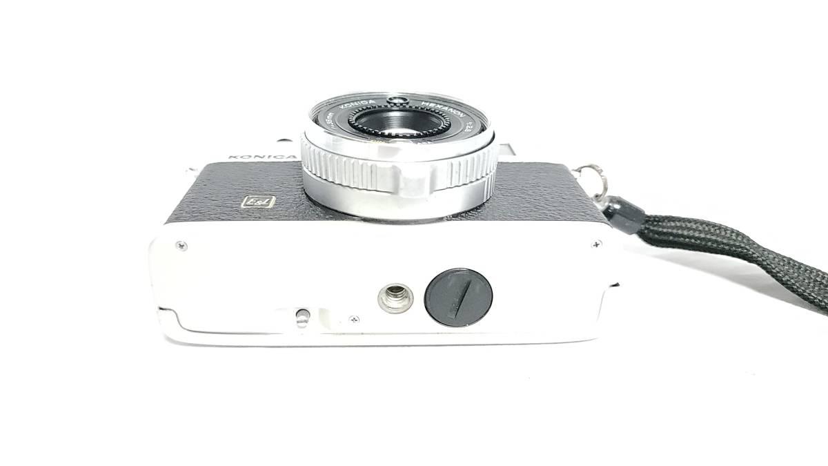 送料無料♪動作良好【KONICAフィルムカメラ】コニカ KONICA C35 E&L 38mm F2.8 コンパクトフィルムカメラ  _画像5