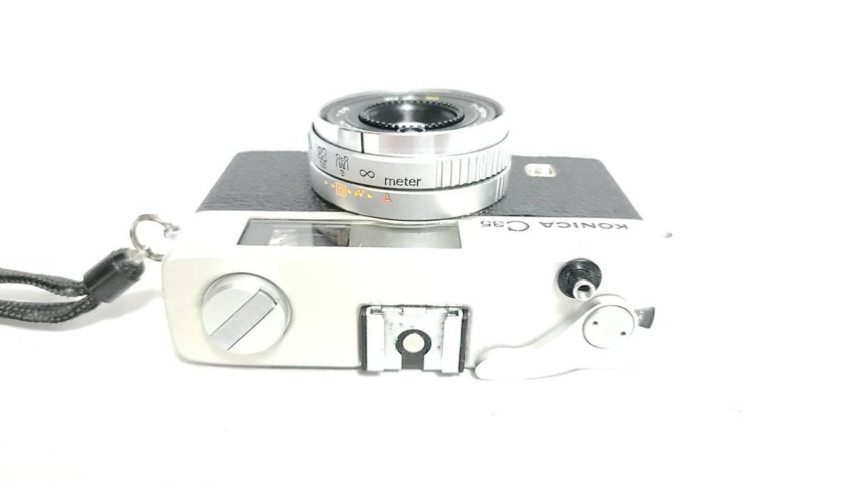 送料無料♪動作良好【KONICAフィルムカメラ】コニカ KONICA C35 E&L 38mm F2.8 コンパクトフィルムカメラ  _画像4