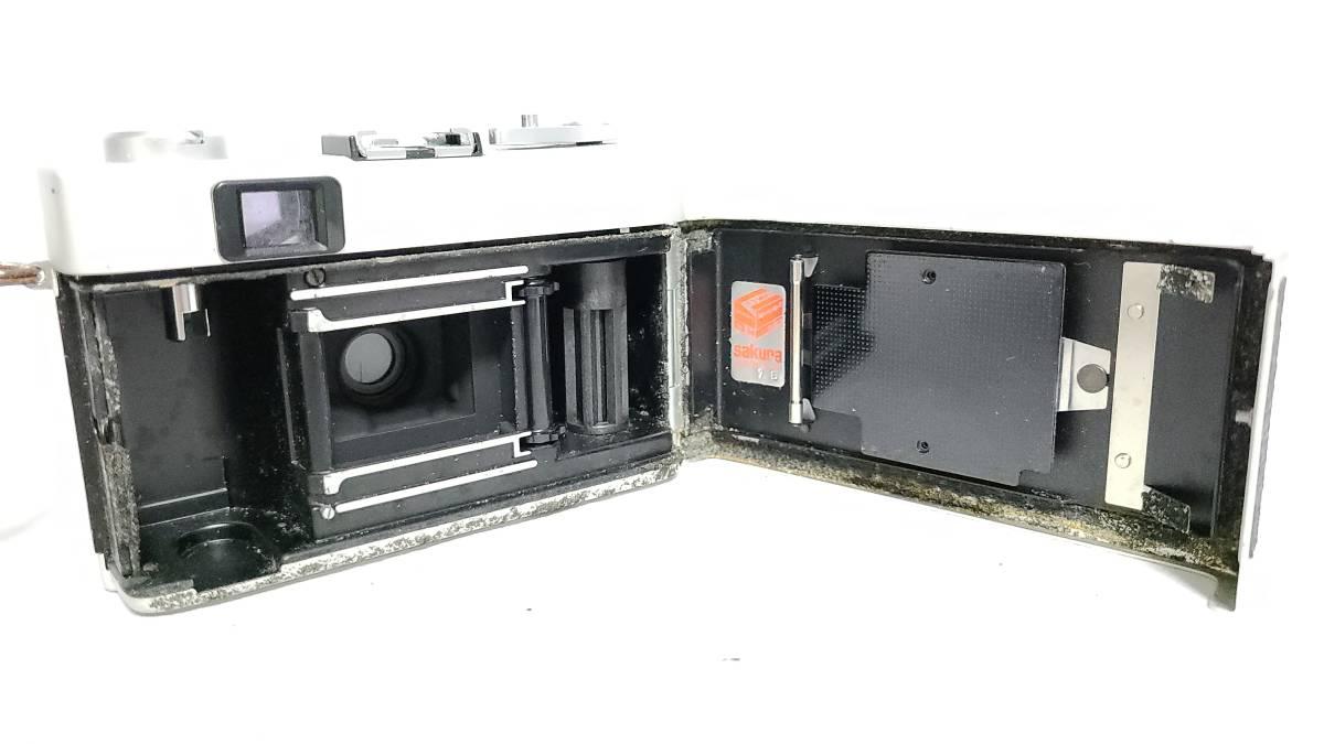 送料無料♪動作良好【KONICAフィルムカメラ】コニカ KONICA C35 E&L 38mm F2.8 コンパクトフィルムカメラ  _画像7
