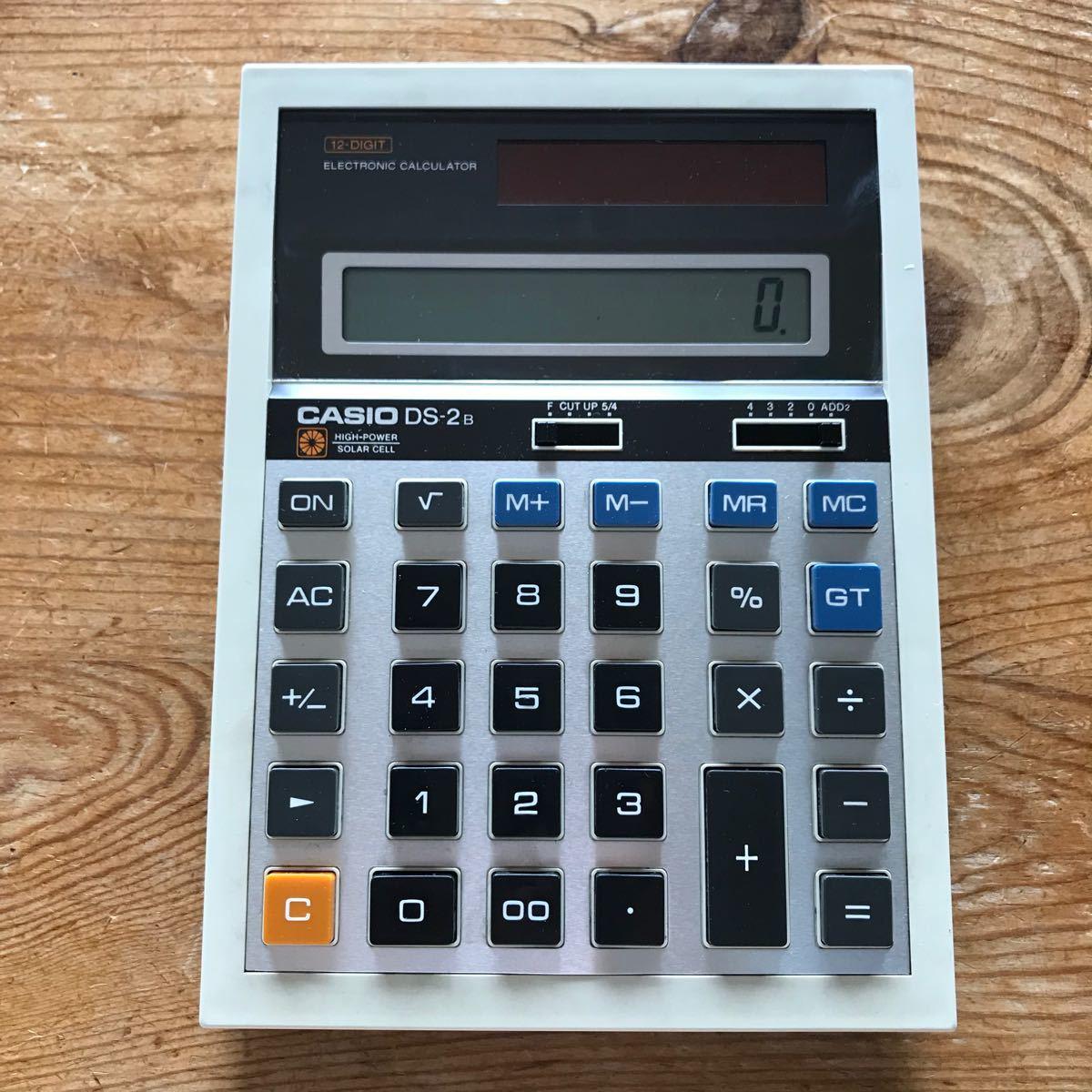 電卓 CASIO 12桁 DS-2B