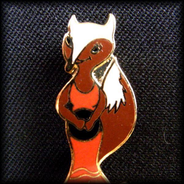 USA BOWLING PIN ボウリング ピンバッジ FOXY BOWLER 狐 キツネ No 19