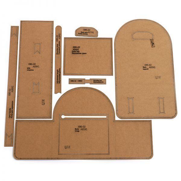 ◆1円~ 最安◆レザークラフト ツール クラフト紙 ステンシル Diy 手作り バックパック デザイン テンプレート 縫製 リュック タイプB_画像2
