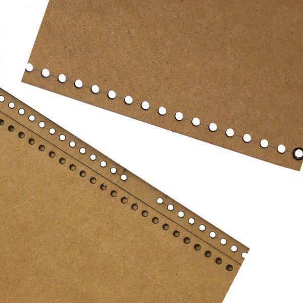 ◆1円~ 最安◆レザークラフト ツール クラフト紙 ステンシル Diy 手作り バックパック デザイン テンプレート 縫製 リュック タイプB_画像4