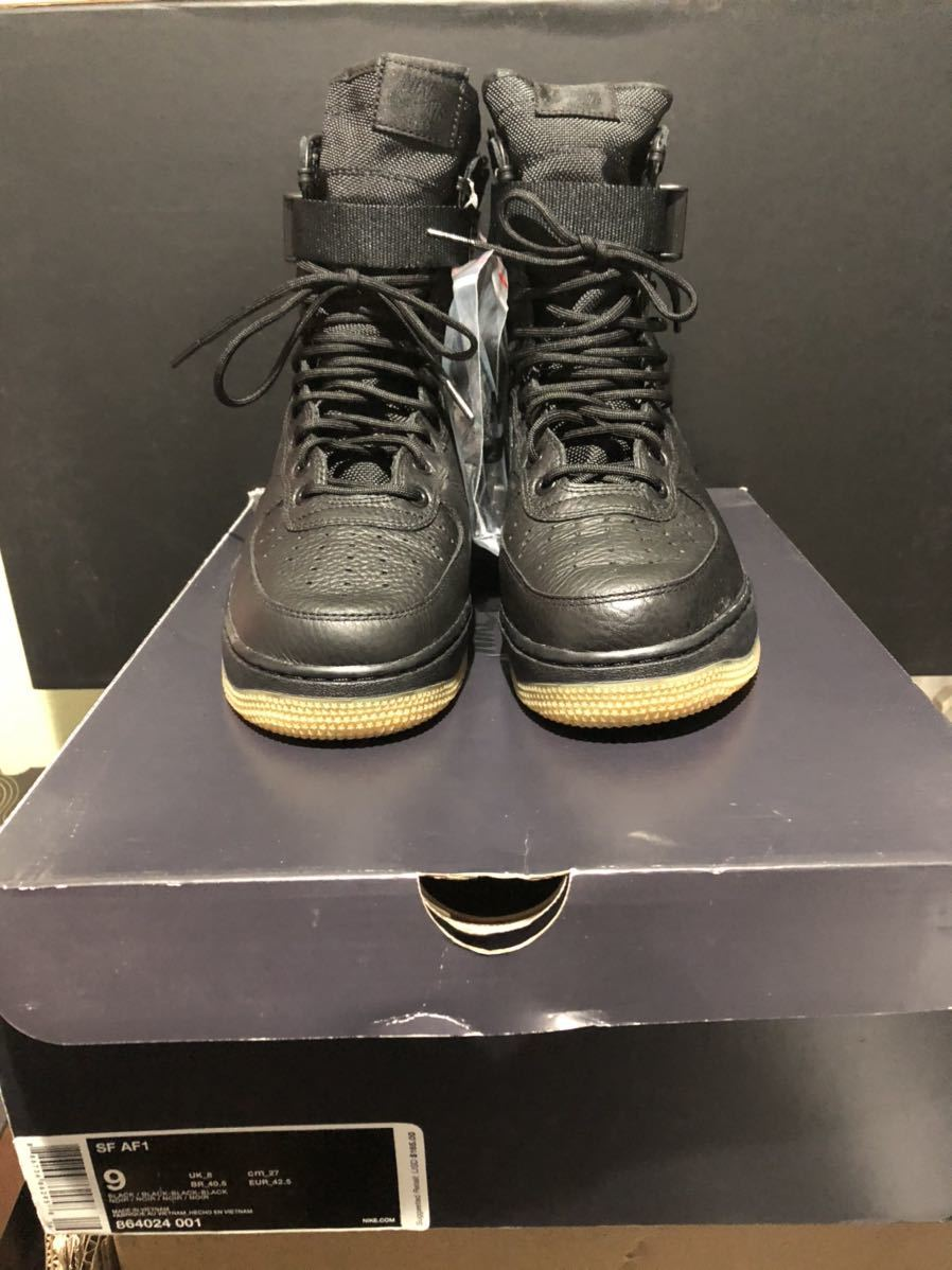 Nike Special Field Air Force1(フォース)黒ガム us9(27cm)新品_画像1