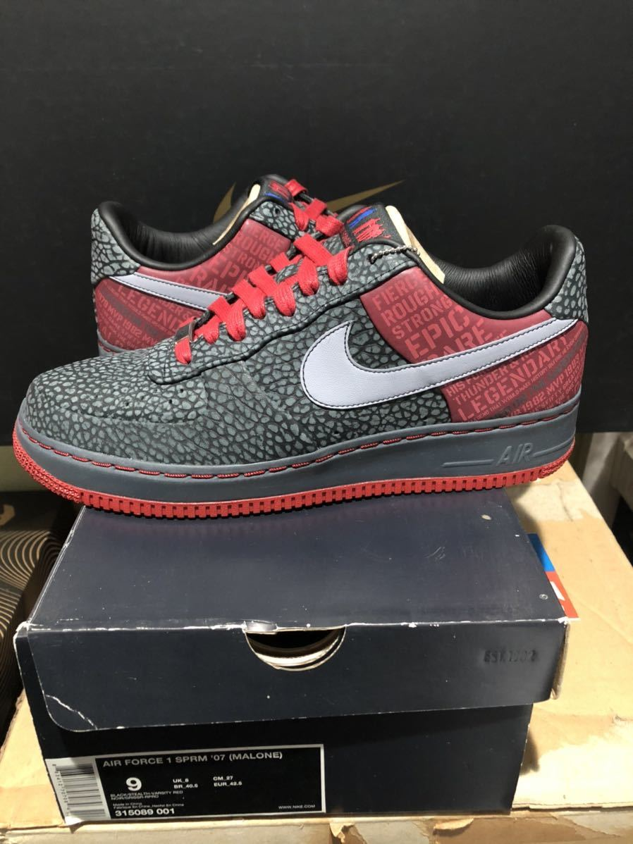 Nike Air Force1 Low(フォース)Moses Malone 黒赤 us9(27cm)新品_画像2