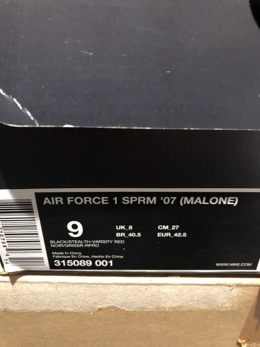 Nike Air Force1 Low(フォース)Moses Malone 黒赤 us9(27cm)新品_画像5