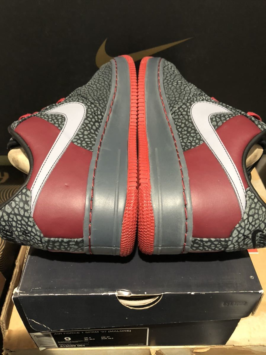 Nike Air Force1 Low(フォース)Moses Malone 黒赤 us9(27cm)新品_画像4
