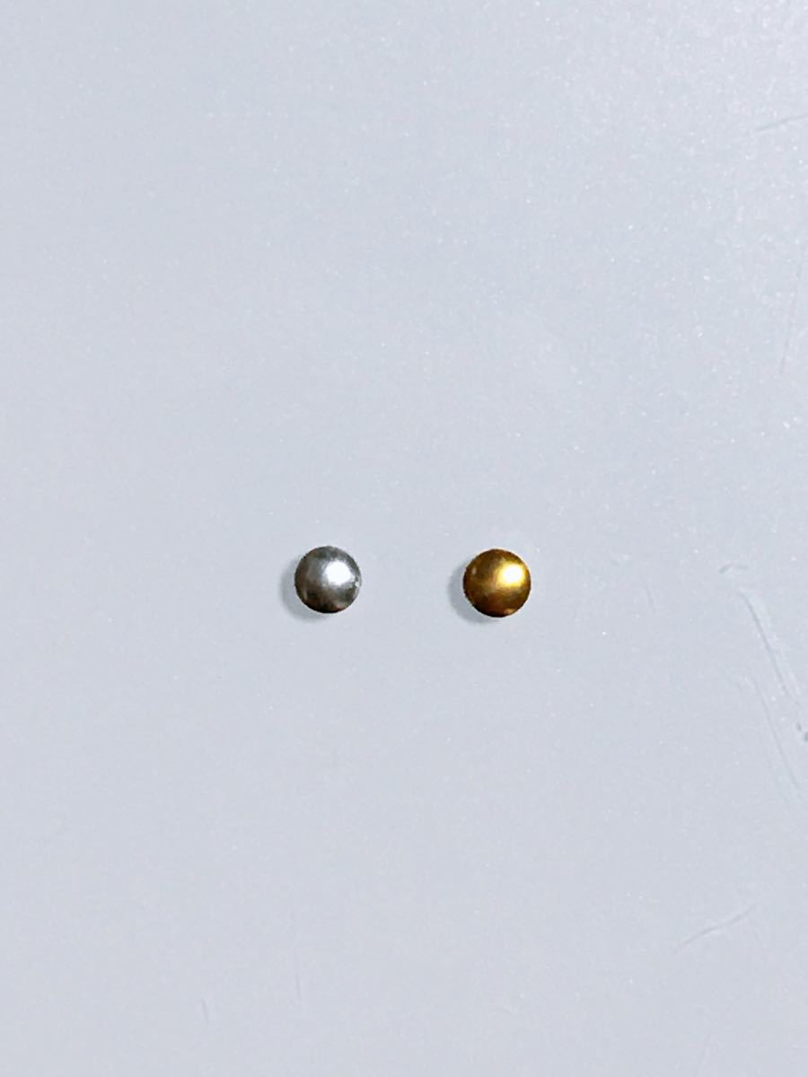 ネイルパーツ丸形1.2mm ゴールド1500粒とシルバー1200粒