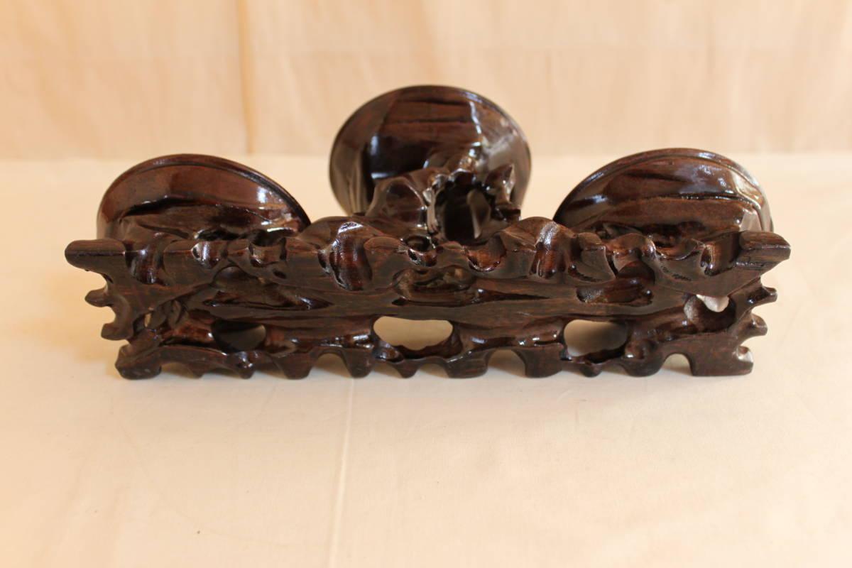 ◆飾り台 違い棚 3段 唐木 花瓶台 香台 花台 盆栽 台_画像4