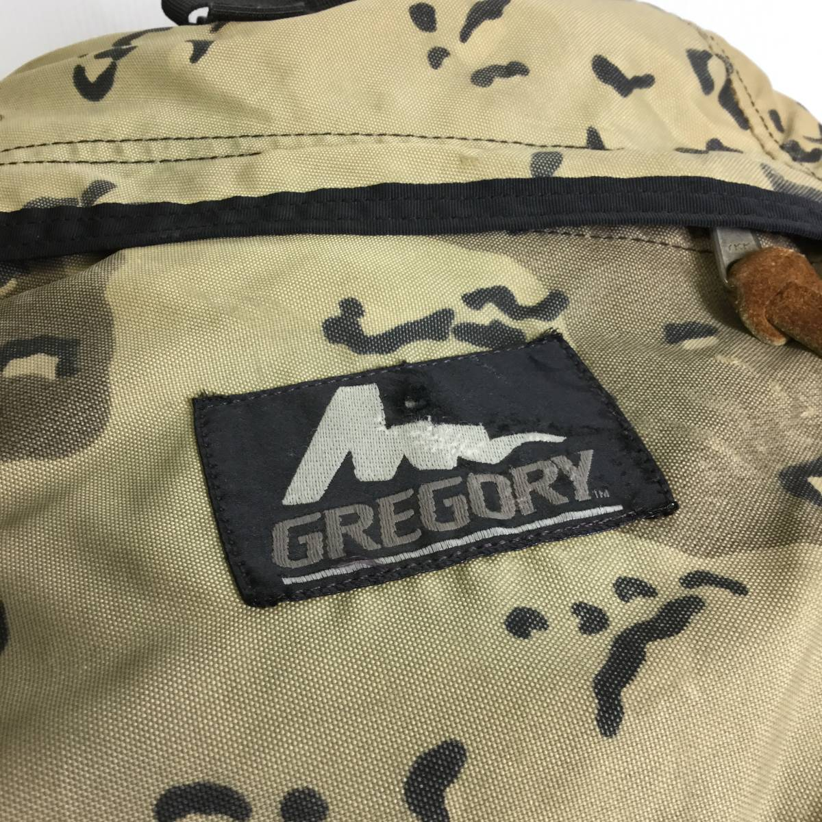 90s USA製 グレゴリー デイパック チョコチップカモ 迷彩 旧タグ GREGORY リュック