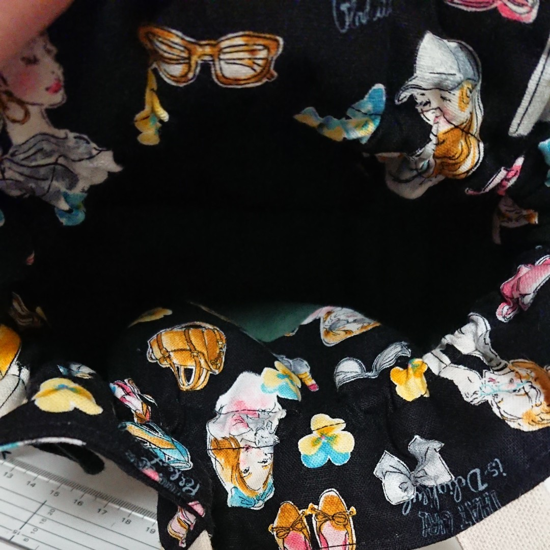 ハンドメイド トートバッグ 巾着バッグ 巾着トート サブバッグ ランチバッグ