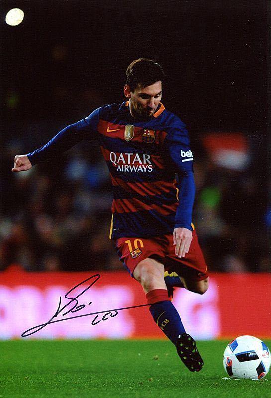 アルゼンチン代表 リオネル・メッシ  FCバルセロナ 直筆サイン入りフォト_画像1